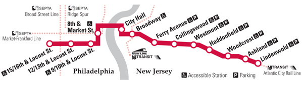 Philadelphia Subway Map From Chrrry Hill Nj.Overall Route Map