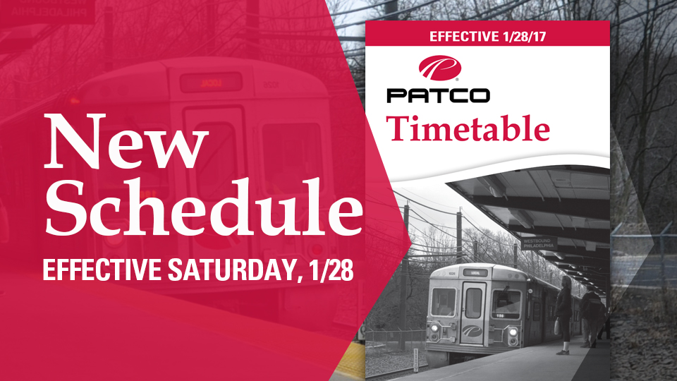 New Timetable Starts 1/28